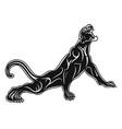 lejpard 0006 growling leopard vector image vector image