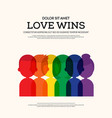 lgbt community poster template background vector image vector image
