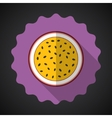 Marakuja Passion Fruit Flat Icon with long shadow vector image