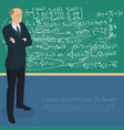 math professor at the blackboard vector image
