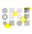 modern trendy hipster pop art halftone geometric vector image vector image