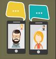 online chat man and woman 2 vector image vector image