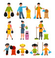 people throwing waste vector image