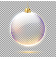 realistic christmas tree toy 3d globe vector image