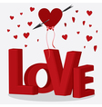 red letters love vector image vector image
