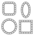 Set of Circle Decorative Frames vector image