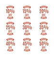 Set of discount labels vector image vector image