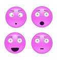set of emoji and emotion character smile icons vector image