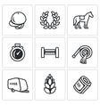 Set of Equestrian Sport Icons Jockey cap vector image vector image