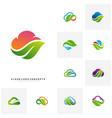 set of nature cloud logo design concept cloud vector image vector image