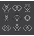 Set of trendy geometric shapes Hipster logotypes vector image vector image
