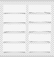 set of various white note papers design elements vector image vector image