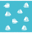 Ship and sea wave vector image vector image
