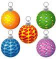 special Christmas balls vector image vector image