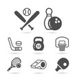 sport tools black trendy icons eps10 vector image vector image