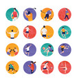 sports and olympic flat icons pack vector image