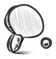 Table tennis racket and ball