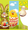 Three Easter banners vector image vector image