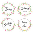tulip and daisy spring wreath collection eps10 vector image vector image