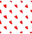 Valentine texture with red hearts vector image vector image