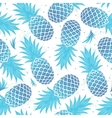 Vintage pineapple seamless vector image