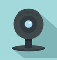 web camera icon flat style vector image vector image