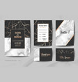 wedding invitation cards collection save date vector image