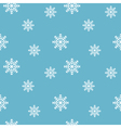 Winter background Seamless snowflakes pattern vector image