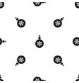 ball for the christmas tree pattern seamless black vector image