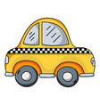 taxi car vehicle to transport service vector image