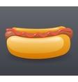 Realistic Hotdog Fast Food Icon Retro Cartoon vector image