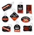 black friday sales tag and banners vector image