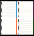 blank notebook pages vector image