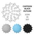 dog ballpet shop single icon in cartoon style vector image