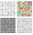 100 different gestures icons set variant vector image