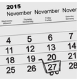 27 November 2015 Black Friday Sale Calendar vector image vector image