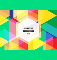 abstract background colorful geometric hexagons vector image vector image