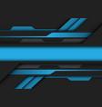 abstract blue grey metallic banner circuit design