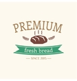 Abstract bread vintage logo element Cakes vector image