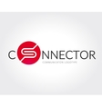 abstract social media logo template vector image