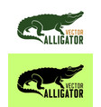 alligator silhouette vector image