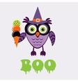 An of cute halloween owl vector image vector image