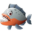 angry piranha cartoon vector image