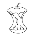 Apple core icon outline style