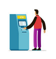 atm machine payment using credit card vector image