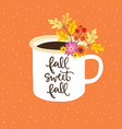 autumn greeting card invitation handwritten vector image vector image