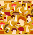 autumn seamless pattern with mushrooms vector image vector image