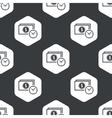 Black hexagon dollar time pattern vector image vector image