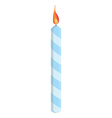 Blue birthday candle vector image vector image