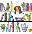 book shelf seamless pattern vector image